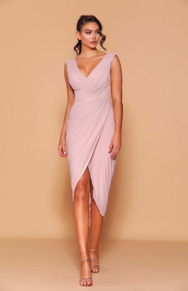 CLARINA DUSTY PINK DRESS LD1115 - LES DEMOISELLE