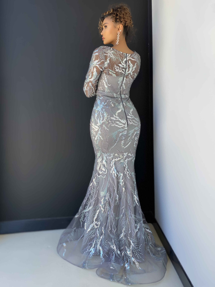 NICOLETTE GOWN - CHARCOAL
