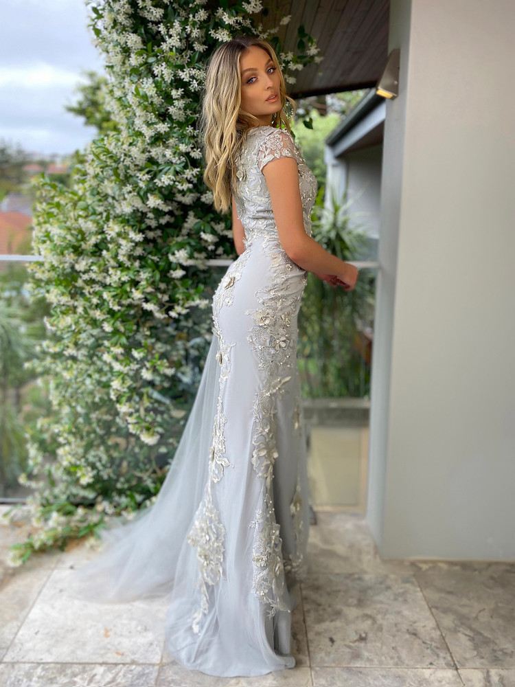 NORA GOWN - SILVER