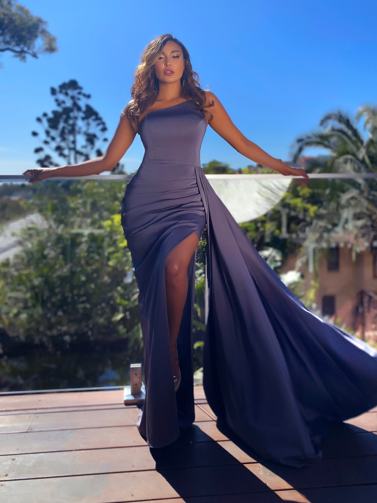 ANASTASIA GOWN - CHARCOAL JX5065