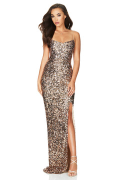 CONFETTI GOWN ROSE GOLD - NOOKIE