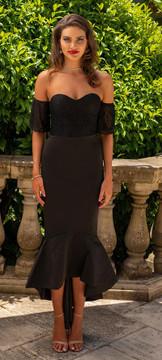 LUCIANA DRESS BLACK - MISS HOLLY