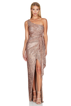PALAZZO GOWN ROSEGOLD - NOOKIE