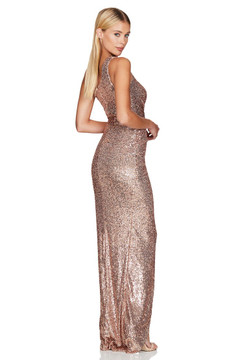 PALAZZO GOWN ROSE GOLD - NOOKIE