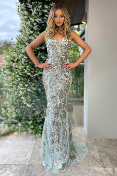 RAYNA GOWN - MINT JX5024