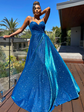 LUCY GOWN - ELECTRIC BLUE