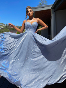 LUCY GOWN - LIGHT BLUE JX5007