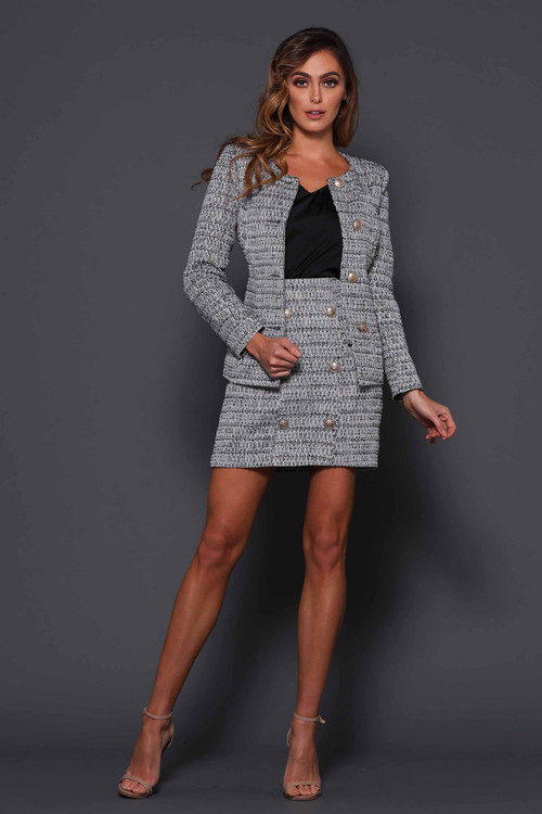 HUNTINGTON BLACK TWEED JACKET - ELLE ZEITOUNE