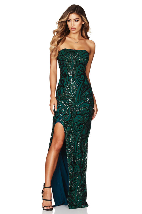 SENSATION GOWN EMERALD - NOOKIE