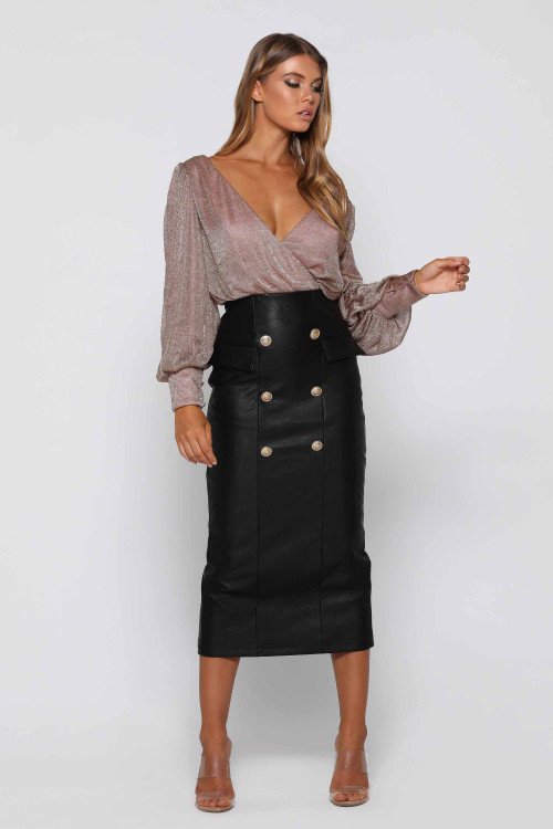 EBONY JET BLACK SKIRT - ELLE ZEITOUNE