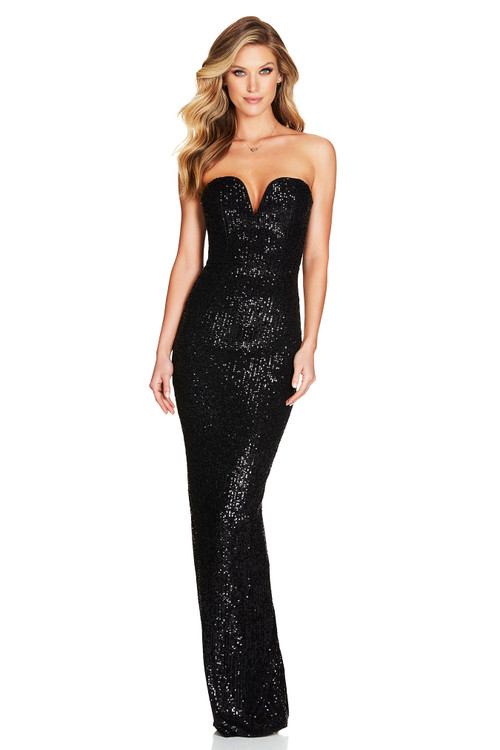 FORTUNE GOWN BLACK - NOOKIE
