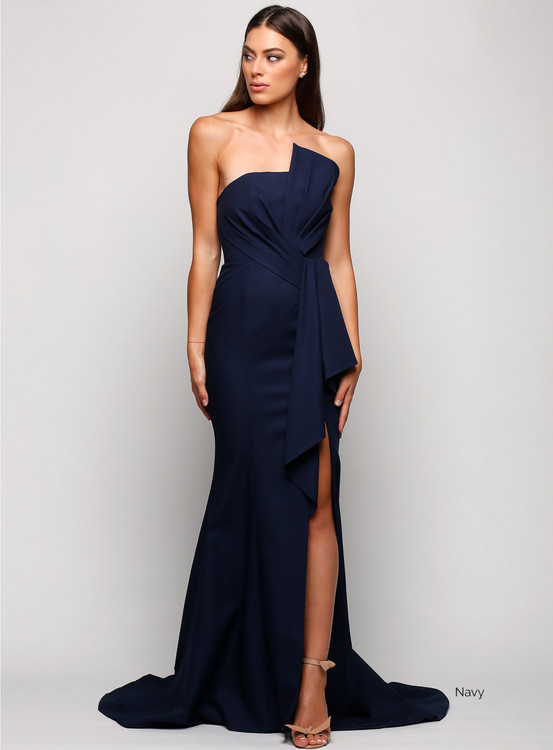 STELLINA GOWN NAVY - SAMANTHA ROSE