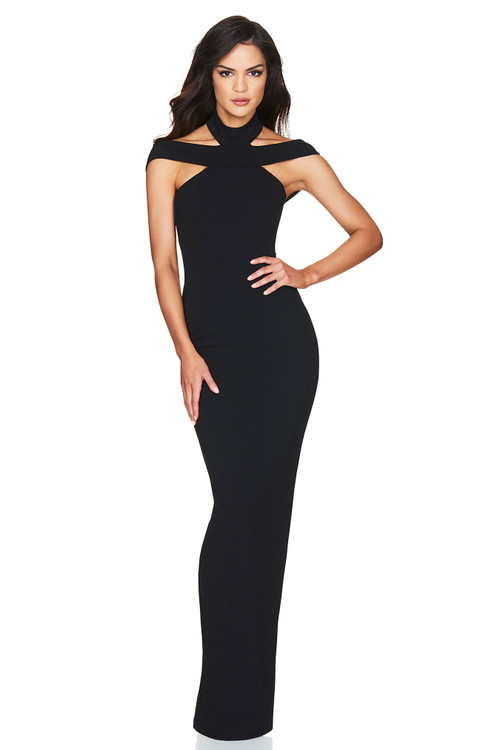 GABRIELLE GOWN BLACK - NOOKIE