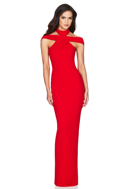 GABRIELLE GOWN RED - NOOKIE