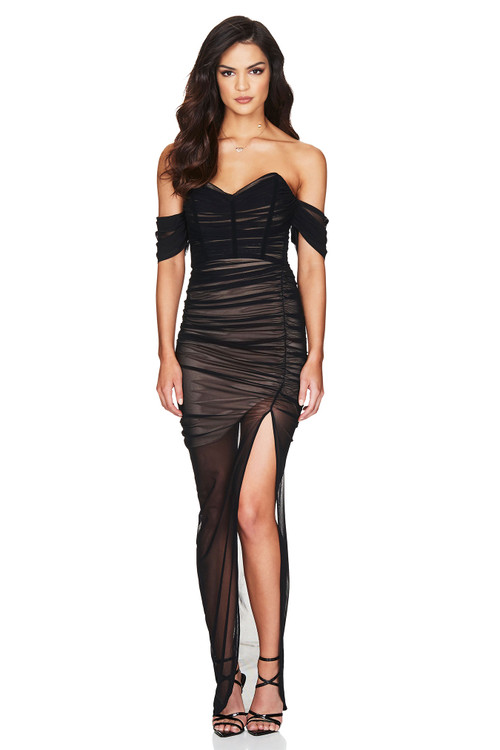 DITA MESH GOWN BLACK - NOOKIE