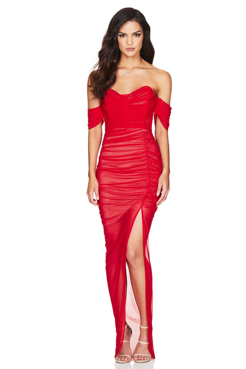 DITA MESH GOWN RED - NOOKIE