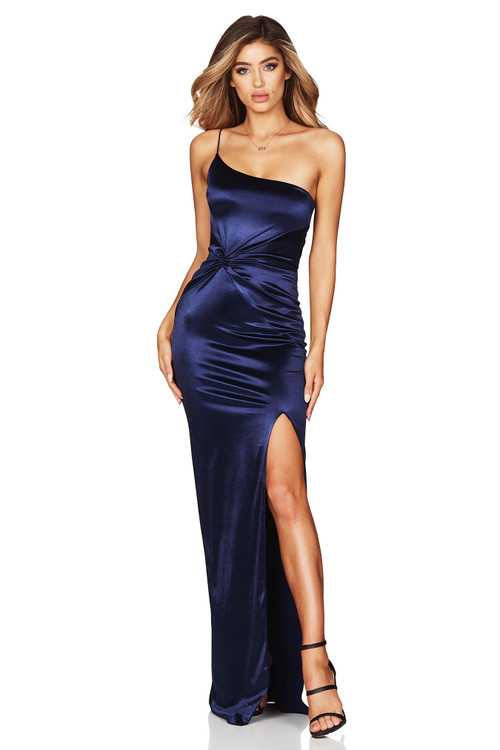 TEASE SATIN GOWN NAVY - NOOKIE
