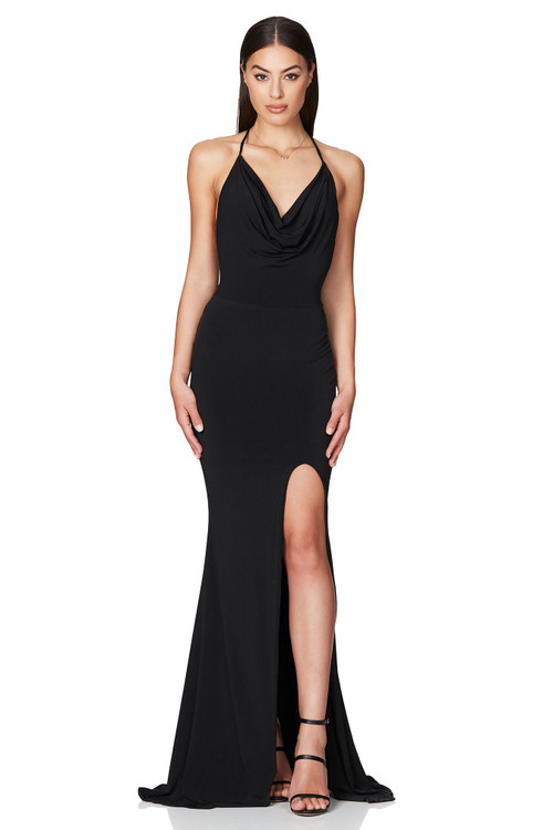 BLACK HARLEY GOWN - NOOKIE