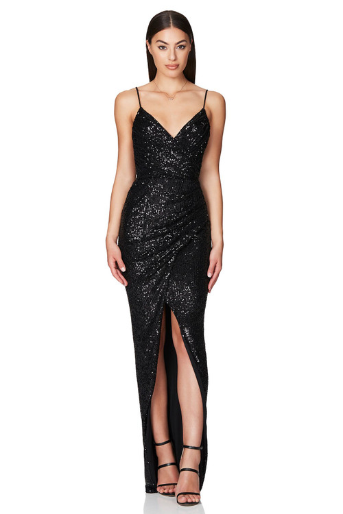 BLACK COSMO GOWN - NOOKIE