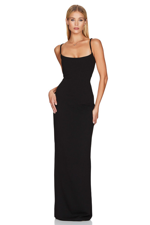 BLACK BAILEY GOWN - NOOKIE