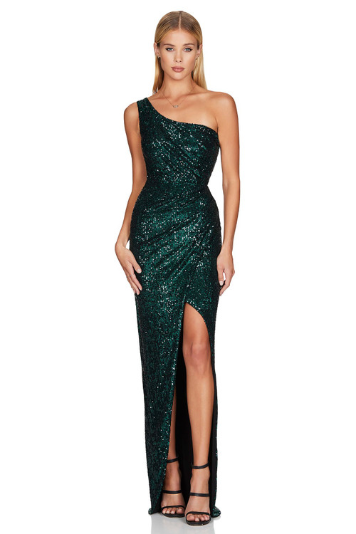 TEAL PALAZZO GOWN - NOOKIE