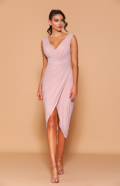 CLARINA DUSTY PINK DRESS LD1115 - LES DEMOISELLE