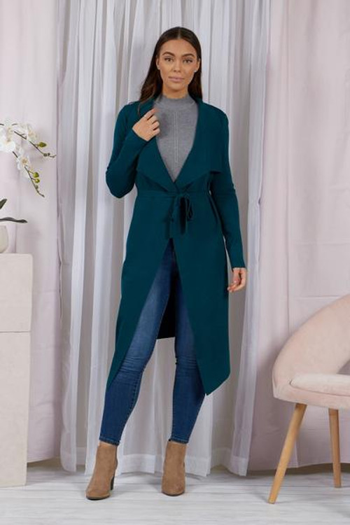 EMERALD GREEN LONG CARDIGAN