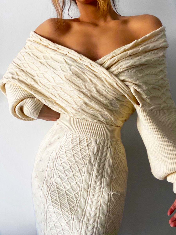 IVORY KNIT JUMPER