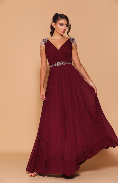LANA GOWN WINE - LES DEMOISELLE