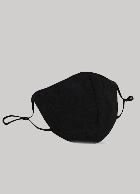 ADJUSTABLE BLACK FACE MASK