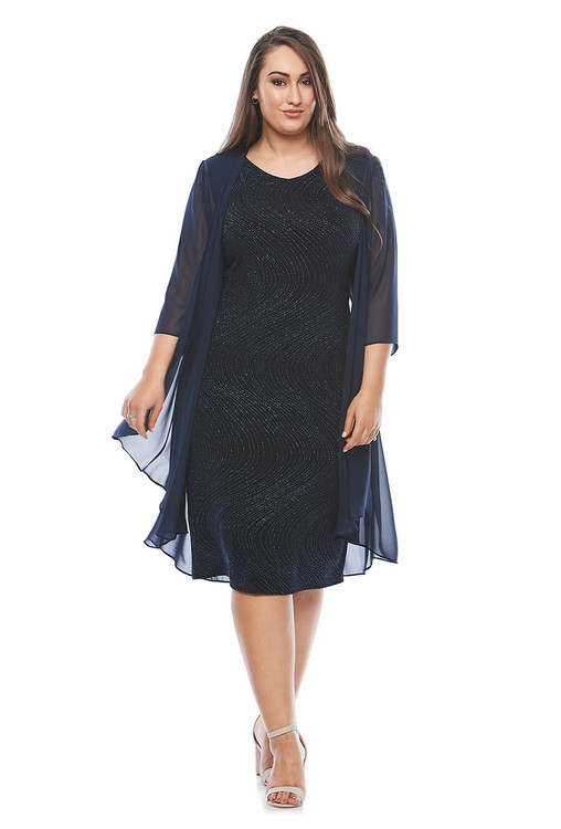 EVE DRESS & JACKET - MIDNIGHT LJ0304