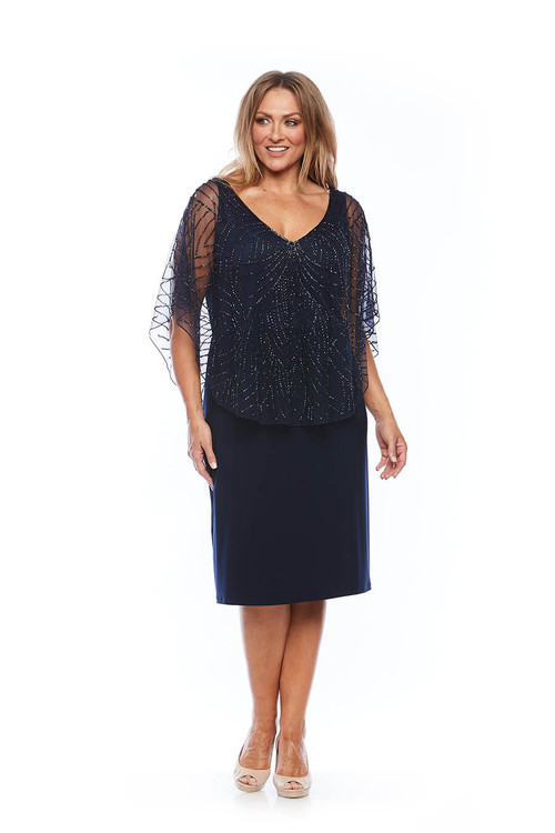 IRA BEADED DRESS MIDNIGHT - LJ0021