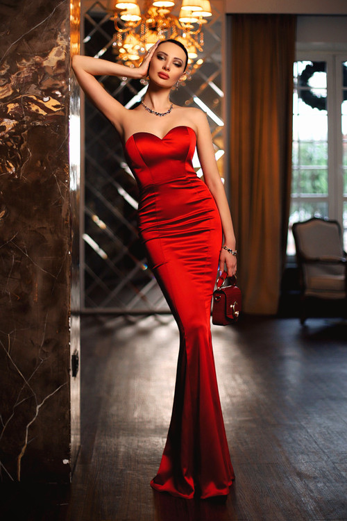 CELEST GOWN - RED