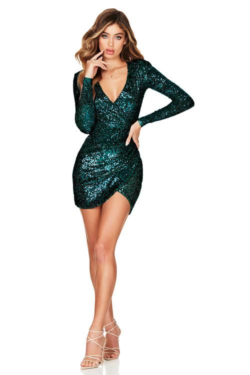 Fantasy Long Sleeve Mini Emerald Green