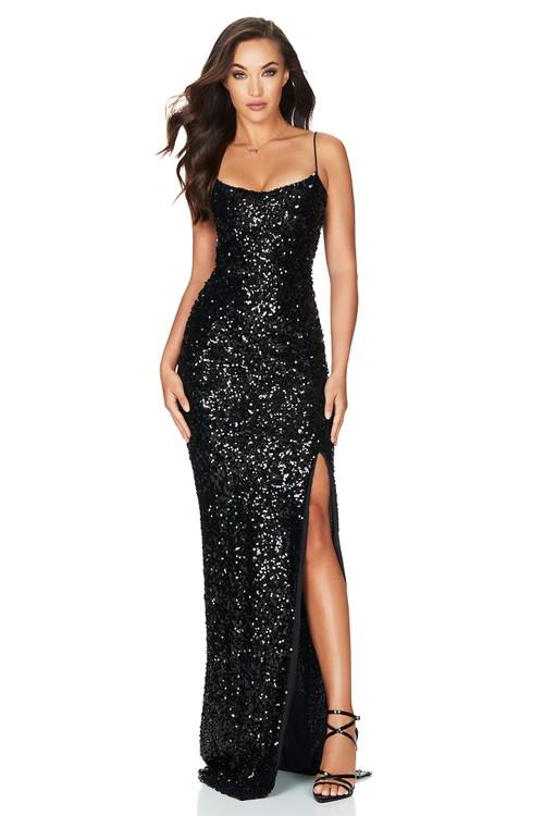 Confetti Gown Black