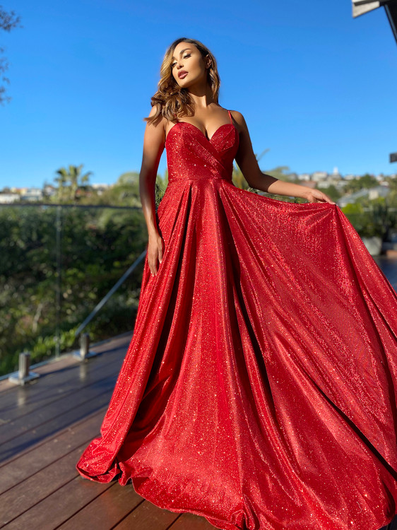LUCY GOWN - RED JX5007