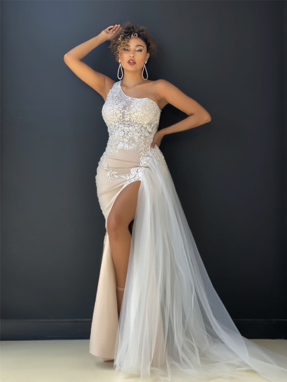 ADELINA GOWN - IVORY/NUDE JX4030