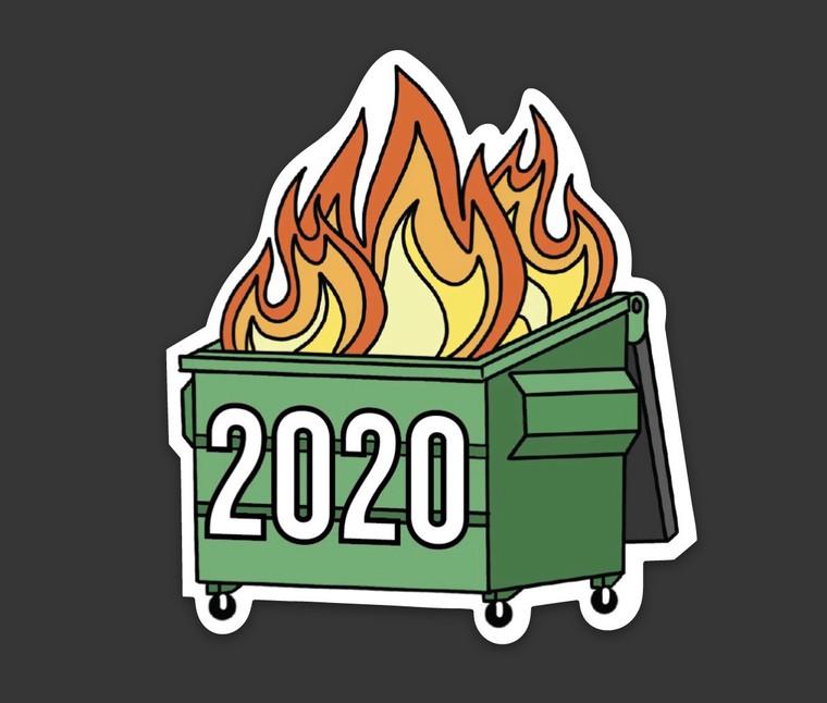 2020 Dumpster Fire Magnet