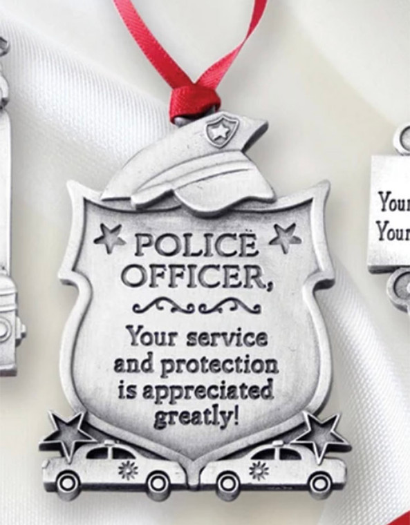 Police Officer Christmas Ornament