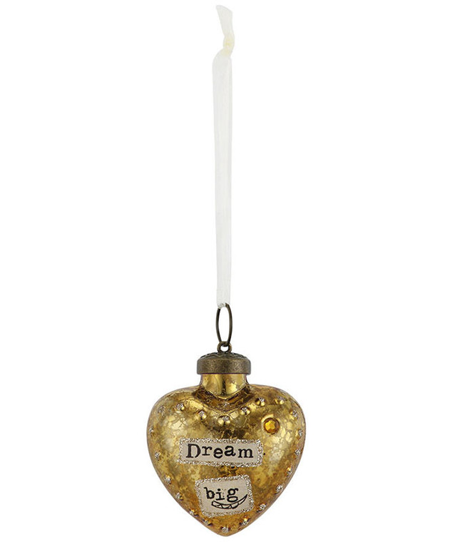 November Birthday Wish Glass Heart Ornament