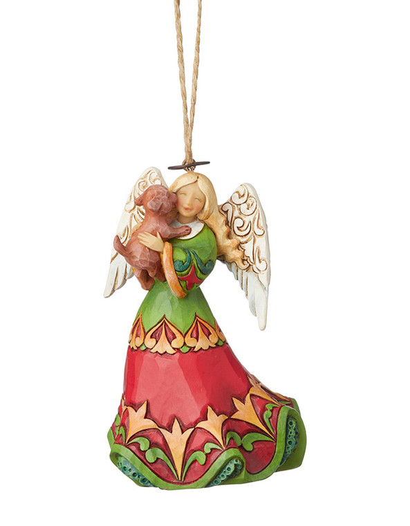 Angel Holding Puppy Ornament by Jim Shore