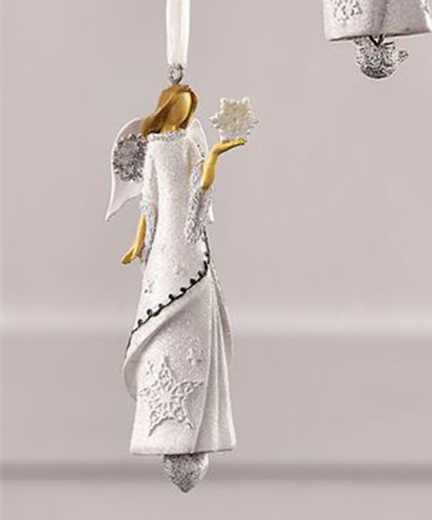 Angel Holding Snowflake Ornament