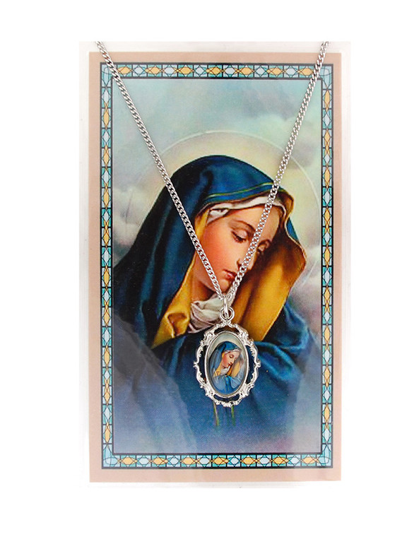 Our Lady of Sorrows Pendant and Prayer Card