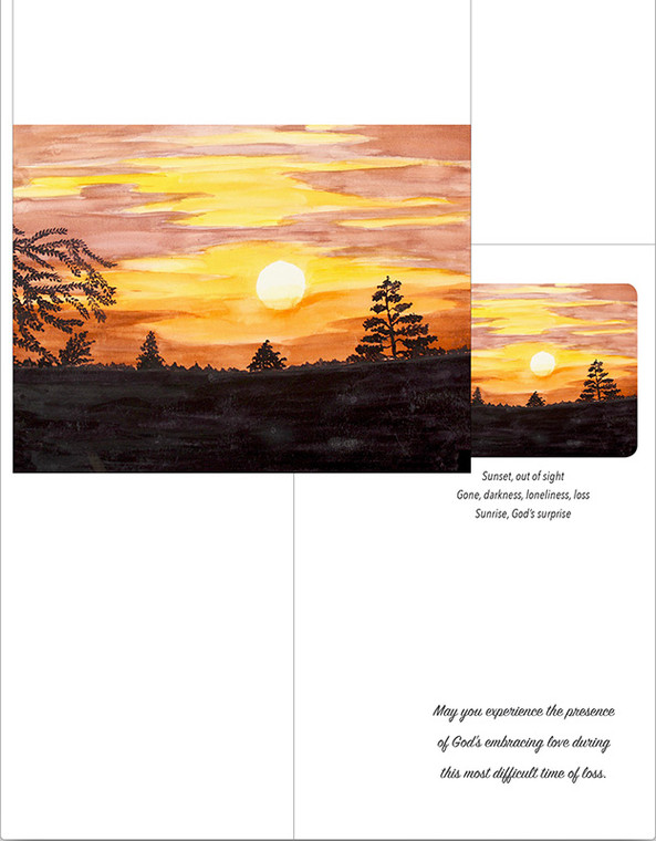Sunset on the Hill Notecard Set of 6