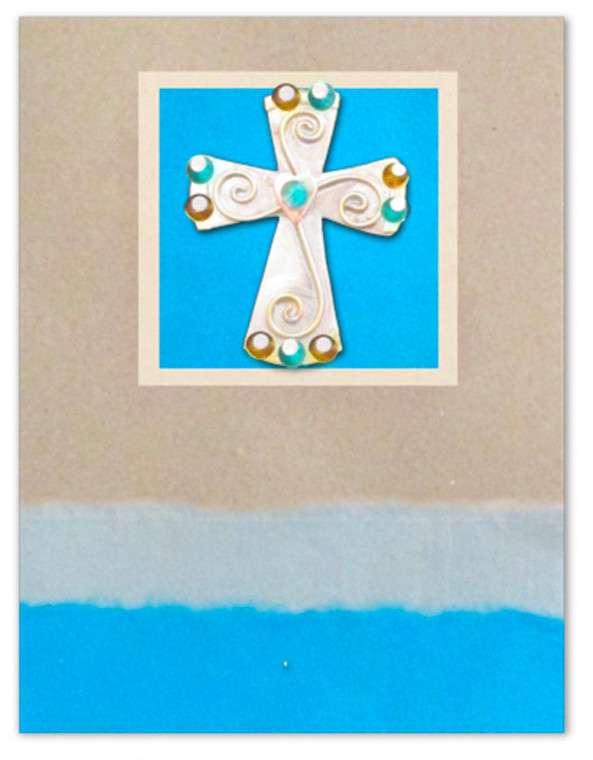 Love Cross Pin Card with Envelope
