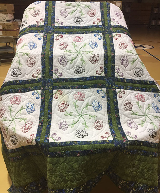 Green and Blue Quilt