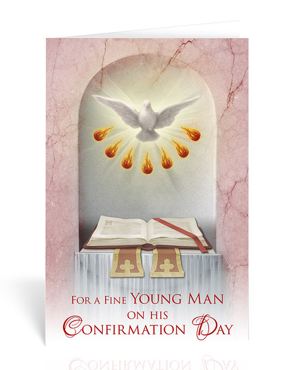 """""""Fine Young Man"""" Confirmation Greeting Card"""