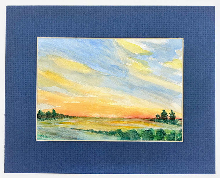 Sunset Original Watercolor by Sister Jane Becker