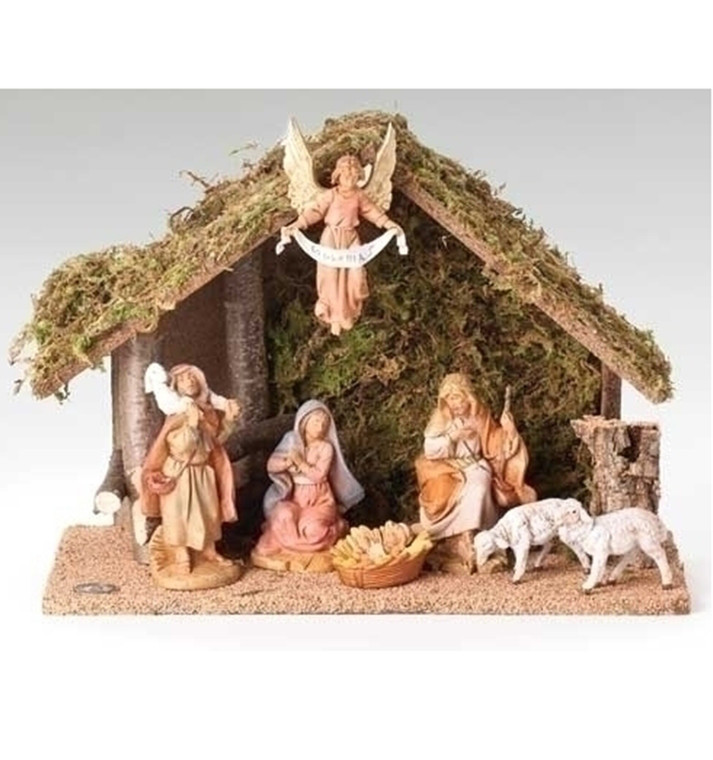 7 Figure Nativity with Italian Stable