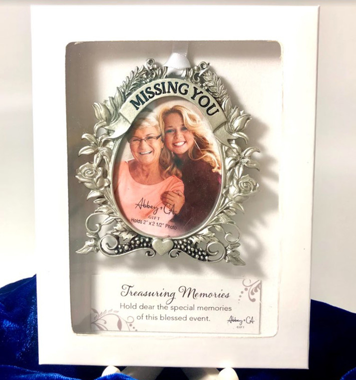 Missing You Photo Frame Ornament